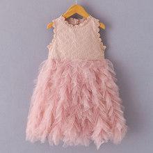 Bear Leader/модное платье для девочек; Новинка 2020 года; Милое летнее кружевное платье для выпускного бала с цветами для девочек; Элегантные Плать...(China)