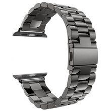 Ремешок из нержавеющей стали для Apple Watch 6 5 4 3 2 1 ремешок 38 мм 42 мм Браслет спортивный ремешок для iWatch series 5 4 3/2/1 40 мм 44 мм ремешок(Китай)