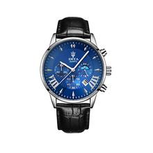 Роскошные мужские кварцевые часы 2020 года, водонепроницаемые спортивные часы для мужчин, наручные часы черного цвета из нержавеющей стали(Китай)
