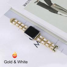 Для Apple Watch 5 4 40 мм 44 мм ремешок для часов из нержавеющей стали с кожаным браслетом ремешок для iwatch серии 3 2 1 38 мм 42 мм(Китай)
