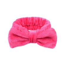 Женская повязка на голову из кораллового флиса для макияжа, мягкий держатель для волос, эластичный Топ, повязка на голову для девочек, аксес...(Китай)
