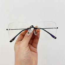 SO & EI модные квадратные женские очки без оправы, оправа, прозрачные очки с защитой от синего света, женские оптические очки, оправа для очков ...(Китай)
