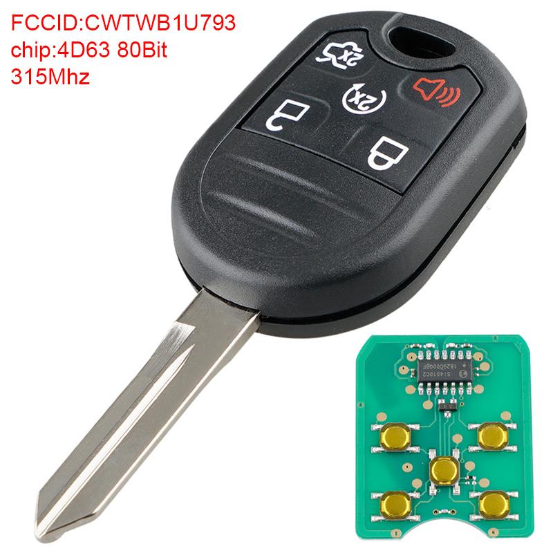CWTWB1U793 Car Key Fob Keyless Entry Remote & Keychain fit Ford ...