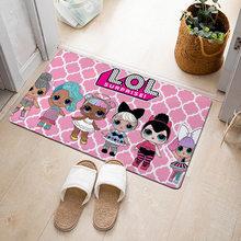LOL куклы с сюрпризом фланелевый ковер герои мультфильмов узор украшение комнаты спальня пол ванная комната нескользящий дверной коврик 2S72(Китай)