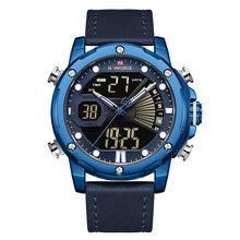 NAVIFORCE мужские часы Топ люксовый бренд модные спортивные наручные часы светодиодный Аналоговый Цифровой кварцевые мужские часы водонепрони...(Китай)