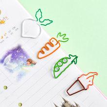 Бесплатная доставка Новинка 2019 каваи морковь мороженое в форме мини бумажные биндеры Канцелярские Оптовые закладки клипса для заметок 4 шт(Китай)