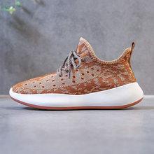 Дышащая сетчатая трикотажная Вулканизированная обувь; Летняя женская обувь на шнуровке; Нескользящая Баскетбольная обувь; Женская обувь н...(Китай)