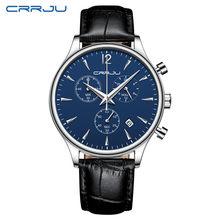 Мужские спортивные часы, роскошные кожаные кварцевые часы с автоматической датой, армейские водонепроницаемые наручные часы(China)