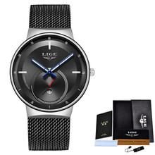 Женские кварцевые часы LIGE, Кварцевые водонепроницаемые часы с сеточкой, 2020(China)
