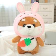 Косплей автомобиль Шиба ину Набивная игрушка собака Тоторо, Япония, милый каваи с капюшоном, ручная кукла, автомобиль, для отдыха, часть комн...(Китай)