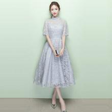 It's Yiiya платье для выпускного вечера с коротким рукавом и высоким воротником А-силуэта, платье для выпускного вечера длиной до колен es 2020 K349 р...(China)