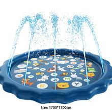 170 см Детские водяные игрушки, коврик для детей, летний пляжный надувной спрей, подушка для воды, открытый газон, детский игровой коврик, игро...(Китай)