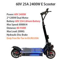 3200W60V 80 км/ч Электрический скутер внедорожный E Электрический Hoverboad скейтборд тротинет электрика Adulte Patinete Eletrico(Китай)