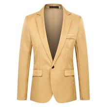 Мужской пиджак черного цвета, новинка 2020, приталенный пиджак с отворотами, Мужской Блейзер на свадьбу, деловой повседневный деловой пиджак, ...(China)