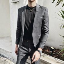 Клетчатые мужские костюмы, дизайнерские смокинги Ternos Masculino для свадьбы, 2020(Китай)