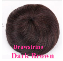 Halo Lady Beauty Drawstring конский хвост наращивание волос булочка шиньон для создания прически настоящие человеческие волосы булочка пончик-шиньон в...(Китай)