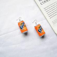 Женские серьги-подвески ручной работы, модные летние серьги с баночками для напитков, аксессуары для самостоятельной сборки, уникальные се...(Китай)