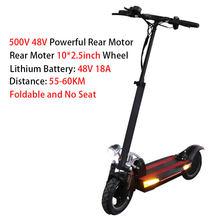 Новый 100 км электрический скутер с сиденьем 48V500W мощный задний мотор складной электрический скейтборд литиевая батарея для взрослых E- Scooter(Китай)