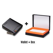 Мужской короткий кошелек LAORENTOU, Черный Повседневный кошелек из натуральной кожи, на молнии, с отделениями для карт, 2019(Китай)
