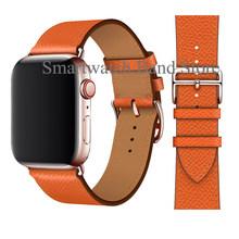 Ремешок с пряжкой из розового золота для Apple Watch 38 мм 42 мм 44 мм 42 мм Свифт кожаный Одноконтурный браслет для iWatch Series 5 4 3(Китай)