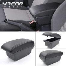 Vtear для Nissan Tiida, аксессуары, подлокотник, автомобильный подлокотник, кожаный ящик для хранения, внутренние части, центральная консоль, украше...(Китай)