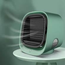 Мини-кондиционер для дома, комнаты, офиса, портативный воздушный охладитель, увлажнитель, очиститель, 3 скорости, настольный тихий вентилято...(Китай)