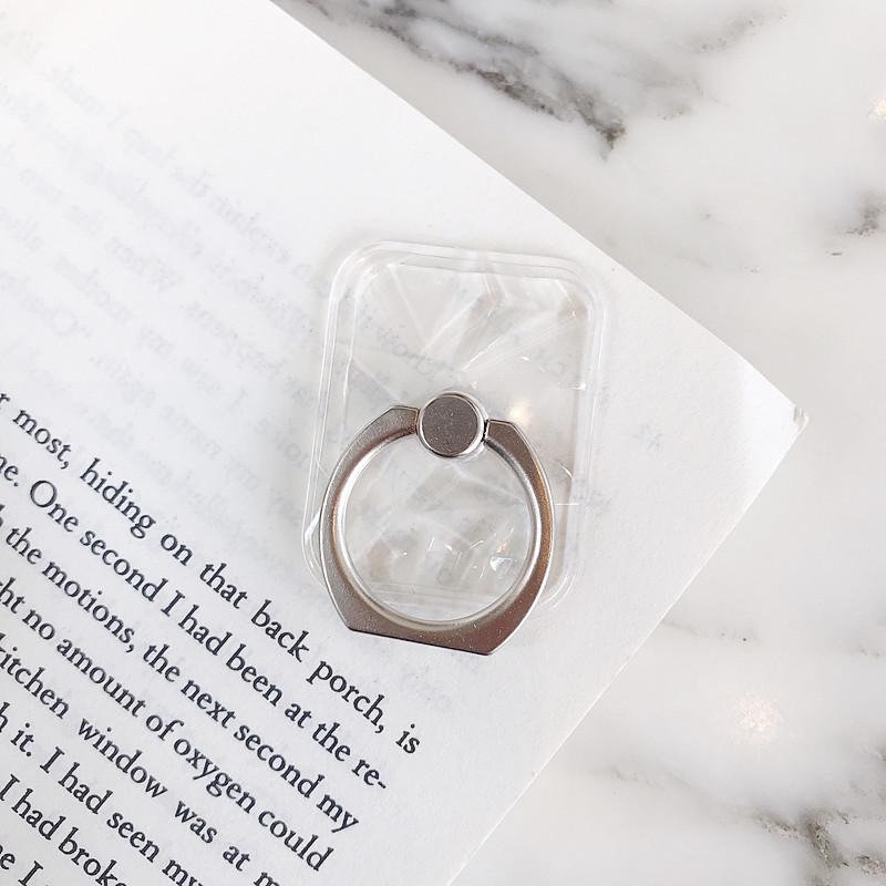 Универсальный держатель для мобильного телефона, подставка, магнитное кольцо на палец для милых мобильных смартфонов, прозрачный держател...(Китай)