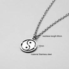 Ожерелье с перьями, цепочка из нержавеющей стали, ожерелье для женщин и мужчин, простая Длинная цепочка, кулон с перьями, ожерелье, эффектные...(Китай)