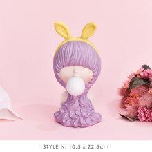 Коллекция 2020 года, скульптуры для девочек в скандинавском стиле с пузырьками и бантиком, фигурки из смолы для украшения дома, аксессуары, мо...(Китай)