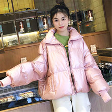 Корейский 2020 Новый пуховик с хлопковой подкладкой Зимняя Толстая хлопковая куртка женское короткое пальто хлопковая свободная одежда XA286(Китай)