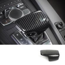 Lsrtw2017 углеродное волокно Abs ручка багажника автомобиля крышка заднего вида планки для Audi A4 2017 2018 2019 2020 аксессуары стикер(China)