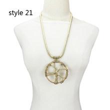 Женское Ожерелье с кулоном UKEBAY, длинное ожерелье ручной работы в этническом стиле, большие ювелирные украшения(Китай)