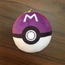 Японская аниме игра покемон брелок Poke Ball брелок кулон значок косплея реквизит 3D Плюшевые необычные креативные подарки(Китай)