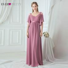 Ever Pretty розовые платья подружки невесты, A-Line V-образный вырез с открытыми плечами элегантные длинные платья Для Свадебное праздничное платье...(China)