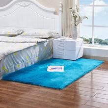 Супер мягкий ковер из искусственного меха для спальни, гостиной, пола, ковер, много размеров, противоскользящий Квадратный Ковер, домашние у...(Китай)