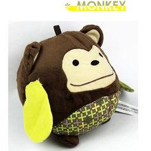 Детский мягкий плюшевый мяч, игрушка 15 см, музыкальный мяч, погремушка, животное, свинья, обезьяна, слон, мышь, детская ручка, обучающая музык...(Китай)