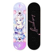 ARDEA скейтборд с двойным рокером для начинающих 79 см/31in для девочек основная скейтерская доска из натурального дерева, Кленовая колода, тверд...(Китай)
