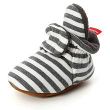 Носки для новорожденных; Обувь для маленьких мальчиков и девочек со звездами; Удобные мягкие Нескользящие теплые ботиночки для малышей(China)