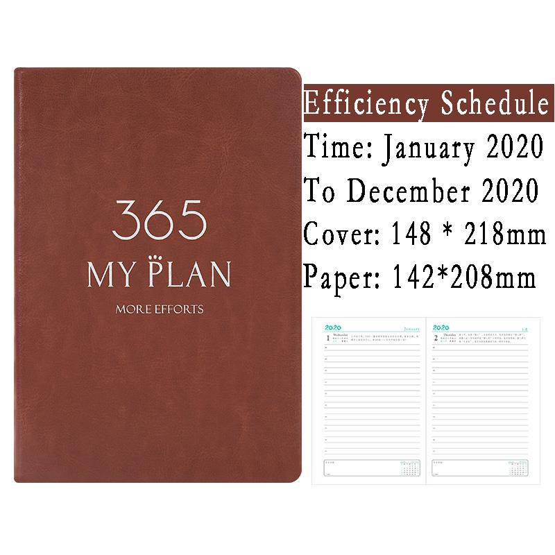 Agenda 2020 365 дней дневник личность креативный ежедневник планировщик путешественник бизнес блокнот Органайзер книги офисные канцелярские при...(Китай)