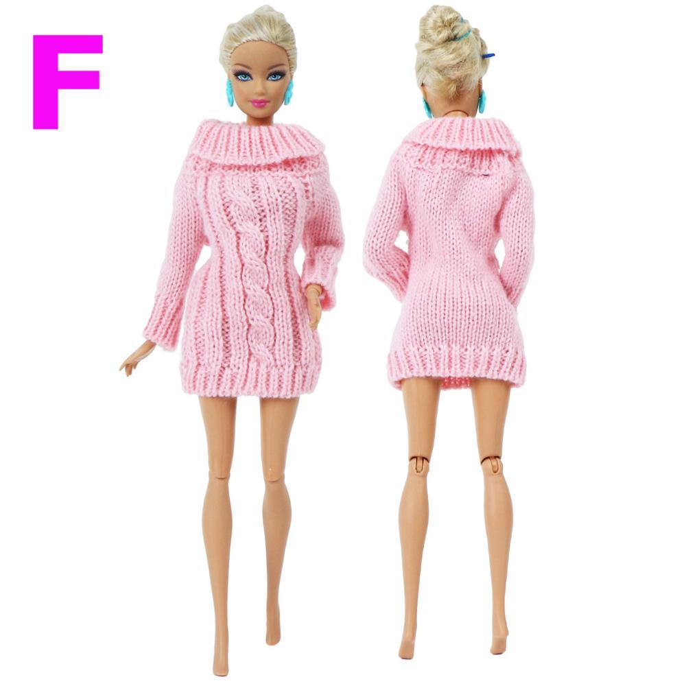Модная микс пальто чистая одежда ручной работы вязаный свитер ручной работы зимнее платье Одежда для куклы Барби аксессуары кукольный доми...(Китай)
