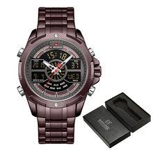 Часы NAVIFORCE для мужчин, топовые Роскошные брендовые деловые кварцевые мужские часы, водонепроницаемые наручные часы из нержавеющей стали, ...(China)