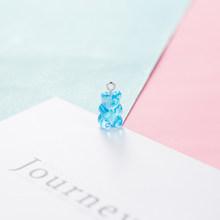 20 шт милые конфетные цвета прозрачные Медвежонок амулеты из смолы кабошоны Блестящий Gummy брелок ожерелье кулон DIY Аксессуары для изготовлен...(Китай)
