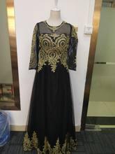 Женское свадебное платье It's YiiYa, розовое платье золотистого цвета с круглым вырезом и длинным рукавом, мусульманское платье размера плюс, ...(China)