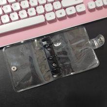 Чехол для ноутбука Coloffice, 3 отверстия, прозрачный, ПВХ, свободный лист/Внутренняя страница, цветные металлические зажимы, чехол для ноутбука, ...(Китай)