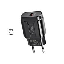 5 в 3 А быстрое зарядное устройство 3,0 USB черный США ЕС адаптер питания 100-240 В вход для LED растений полосы света лампы Iphone Android(Китай)