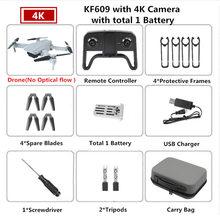 KF609 WiFi FPV Новый мини-Дрон 4K 720P, оптический поток HD, широкоугольный, двойная камера, Складное крыло, Квадрокоптер, дроны, игрушка с дистанционны...(Китай)