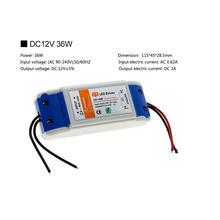 Светодиодный трансформатор для освещения DC12V 18 Вт 36 Вт 72 Вт 100 Вт светодиодный адаптер питания для светодиодных лент 12 В(Китай)