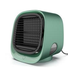 USB портативный вентилятор кондиционера USB мини охлаждающий вентилятор для спальни, Настольный кулер, регулируемые автомобильные аксессуар...(Китай)
