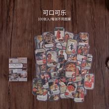 100x винтажные растения насекомое Этикетка Бумага для письма крафт-карты журнал пуля DIY Скрапбукинг руководство Материал Бумага LOMO карты(Китай)