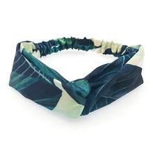 Корейская повязка для волос с перекрестными узорами и цветочным принтом, милая широкая повязка на голову для женщин и девочек, головной убо...(Китай)